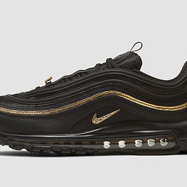 NIKE - Air Max 97 - Black/Black/Metallic Gold