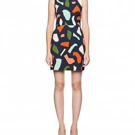 gorman - navy jigsaw dress
