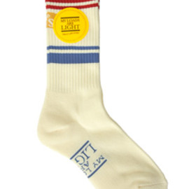 MY LOADS ARE LIGHT - the BAD SON Line Sox (cream)