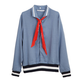 .efiLevol - Scarf Attached Blouse Shirt