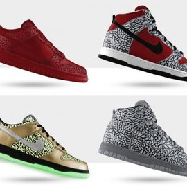Nike - NIKEiD DUNK PREMIUM ELEPHANT PRINT & GLOW IN THE DARK