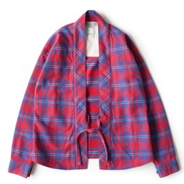 visvim - LHAMO SHIRT (GIZA) RED CHECK