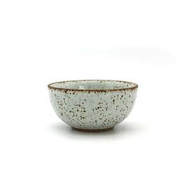 "Local Artisanal Ceramic - White Bowl 4"" - Earth Mart"