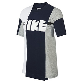 NIKE, sacai - T-shirt NAVY×WHITE