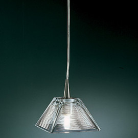 "D'ac Lighting - d5280 MARIELA 5 3/4"" square pendant with frosted glass shade"