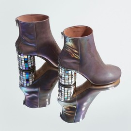 Maison Martin Margiela - Maison Martin Margiela Grey CD Mosaic Ankle Boots