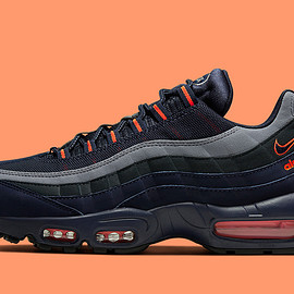 "NIKE - AIR MAX 95 ""Logo"" - Dark Navy & Orange"