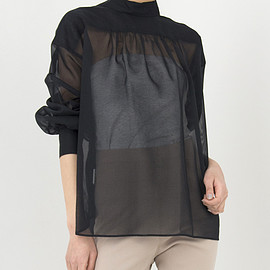 HYKE - COTTON VOILE SHIRT