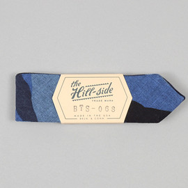 The Hill-Side - BTS-068 - Camo Print Indigo Chambray Bow Tie, Woodland Camo