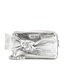miu miu - Metallic leather shoulder bag