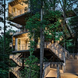 west virginia - sustainable tree house for boy scouts