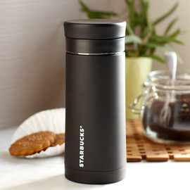 STARBUCKS - Stainless Steel Travel Press - Black, 10 fl oz