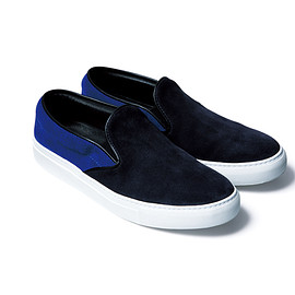 SOPHNET. - COLOR BLOCK SLIP ON SHOES NAVY
