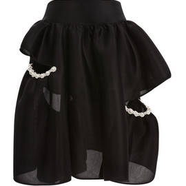 SIMONE ROCHA - Pearl Embellished Neoprene Three Bites Skirt