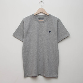 cup and cone - Embroidered Tee - Grey