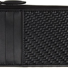 Ermenegildo Zegna - Black Leather Pelletessuta Zipped Card Holder