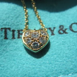 TIFFANY&Co. - Pave Diamond Heart Necklace