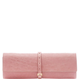 Rochas - Lamb Leather Textured Roll Clutch