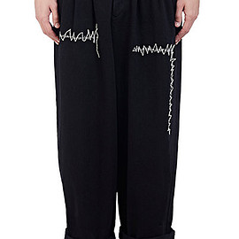 Yohji Yamamoto Pour Homme - Pleated Wide-Leg Jeans - Trousers - 504642711