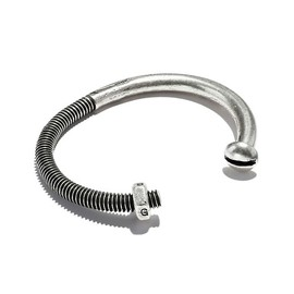GILES & BROTHER - SKINNY NUT & BOLT CUFF SILVER