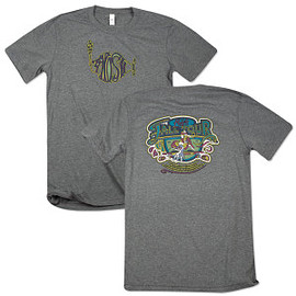 Phish dry goods - West Coast Skate Fall Tour T on Tri-Blend Gray