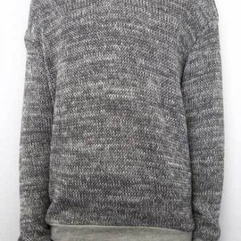 ffiXXed - SIMPLIFIED ENJOYMENT SWATER KNIT -GREY MELANGE