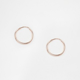 ASOS - ASOS Rose Gold Plated Sterling Silver 9mm Hoop Earrings