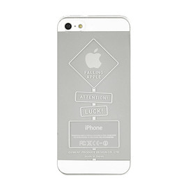 "CEMENT PRODUCE DESIGN, iTattoo - ""DANGEROUS ZONE"" for iPhone5/5s White & Silver"