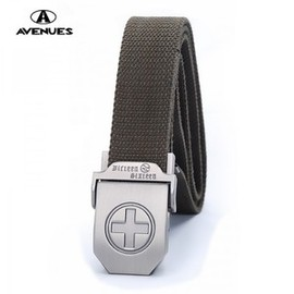 alanatt - Image of Fashion Canvas Cross Belts for Men