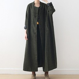 maxi wool coat - oversized wool overcoat for women, maxi wool coat, Women's Winter coat