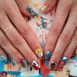 nail - Jean Michel basquiat nails