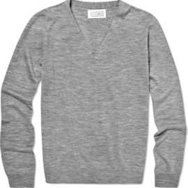 Maison Martin Margiela - Seamless V-Neck Wool Sweater