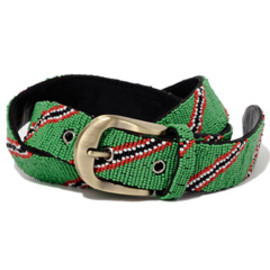 bal - Beads Belt  (green)