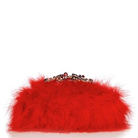 Alexander McQueen - Crystal-embellished feather knuckle clutch