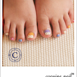 coquine nail - colorful nail