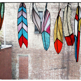 Colin Adrian Glass - Stained glass feathers