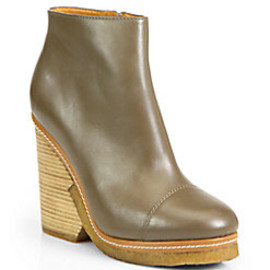 MARC BY MARC JACOBS - Marc by Marc Jacobs - Urban Click Leather Platform Ankle Boots
