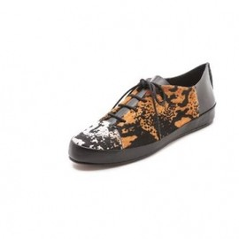 10 CROSBY DEREK LAM - Jo Lace Up Haircalf Sneakers  2013AW