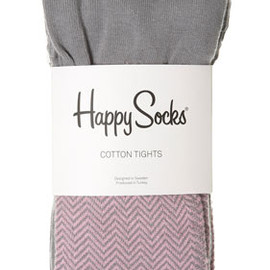 Happy Socks - Purple Zig Zag Tights