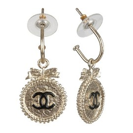"CHANEL - CHANEL☆CHARMING CHIC""CC BUTTON DANGLE EARRING"