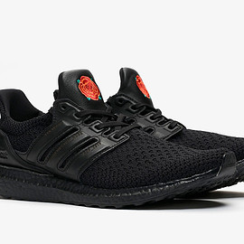 "adidas, Manchester United - Ultra Boost OG ""Manchester Rose"" - Core Black/Core Black/Solar Red"