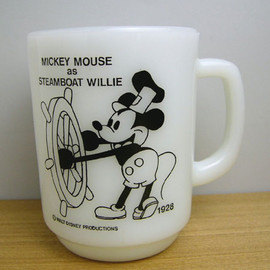 Fire King - disney mickey mouse as Steamboat Willie mug cup