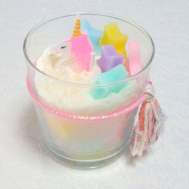 unicorn stand candle