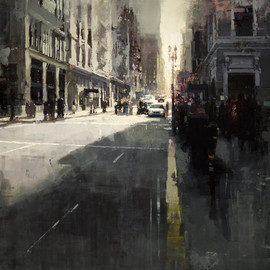 Jeremy Mann - CITYSCAPES / Sunset by Union Square