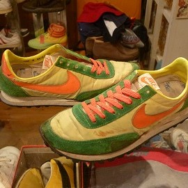 "NIKE - 「<used>'80 NIKE VANQUEUR green/yellow/orange""made in KOREA"" size:US8(26cm) 14800yen」完売"