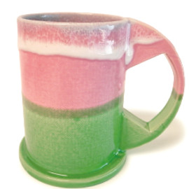 Echo Park Pottery - Large Mug Pink × Green | Echo Park Pottery