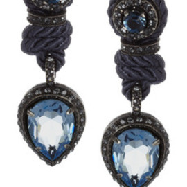 LANVIN - Crystal and cord clip earrings