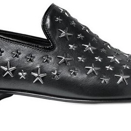 JIMMY CHOO - METAL STAR STUDDED SLOANE LOAFERS