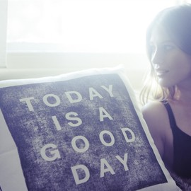 White Horse Home - TODAY IS A GOOD DAY Cushion