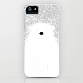 Society6 - Its A Polar Bear Blinking In A Blizzard iPhone & iPod Case
